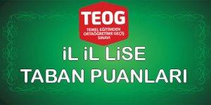 MEB 2014 TEOG Lise Taban ve Tavan Puanları (TEOG Lise Puan Listesi)