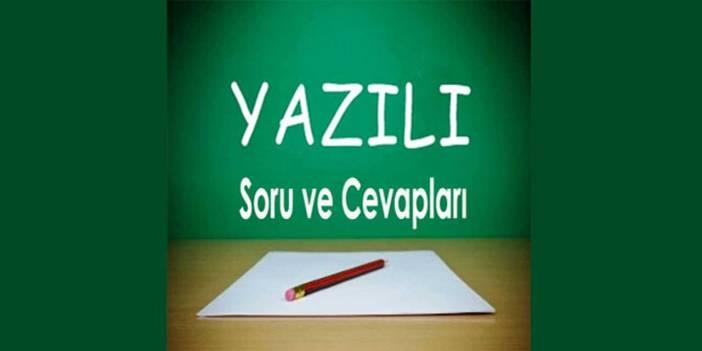 9. Sınıf Türk Dili ve Edebiyatı 2. Dönem 2. Yazılı Soruları ve Cevapları (I)