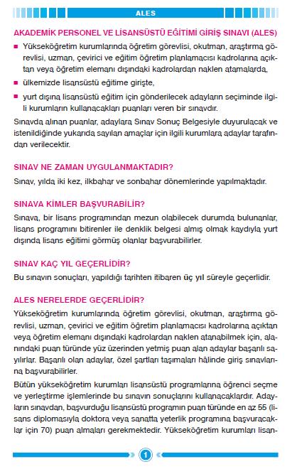 2012 ALES Sınav Rehberi 2