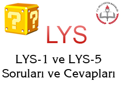 16 Haziran 2013 LYS-1 (Matematik-Geometri) Cevap Anahtarı 7