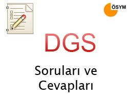 2013 DGS - Dikey Geçiş Sınavı Cevap Anahtarı 4
