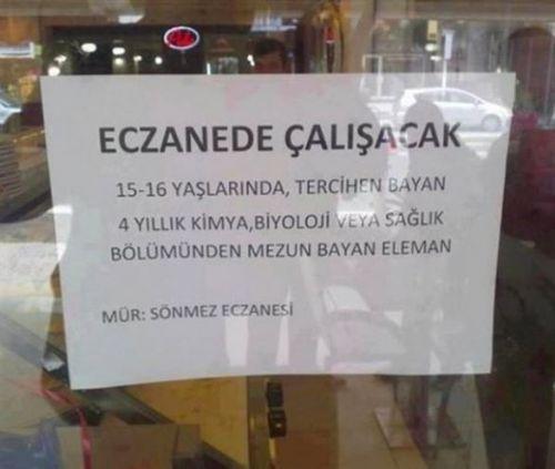 Türkiye'den komik ilanlar 6