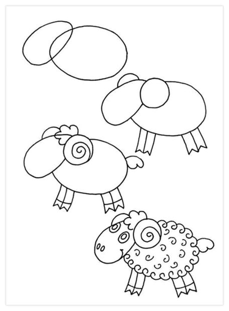 Çocuklar için hayvan çizimlerini kolaylaştıracak figürler 1