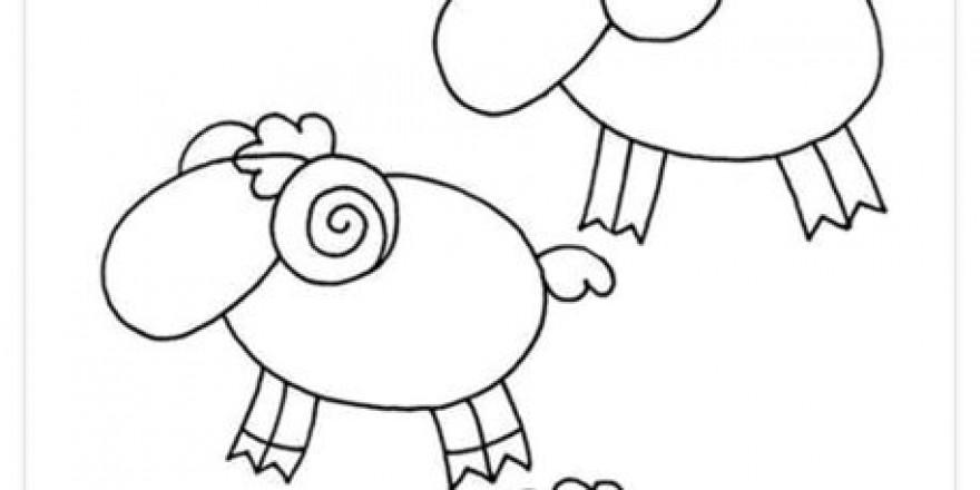 Çocuklar için hayvan çizimlerini kolaylaştıracak figürler