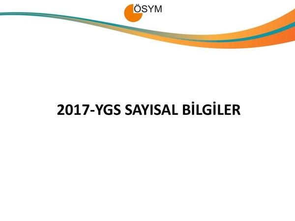 YGS 2017 istatistikleri açıklandı 1