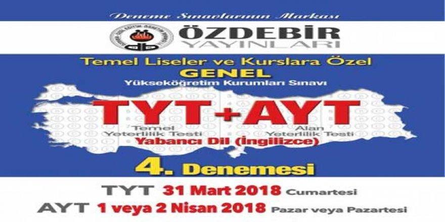 2018 Özdebir YKS 4. Deneme Sınavı Cevap Anahtarı