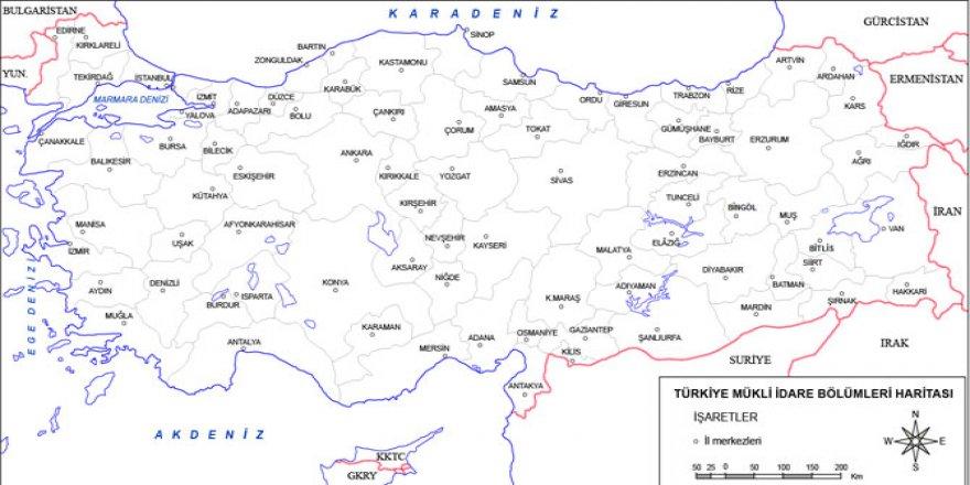 Türkiye il il ilçe sayısı