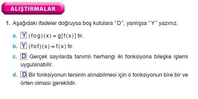10. Sınıf Aydın Yayıncılık Matematik Sayfa 103-106 Cevapları 1