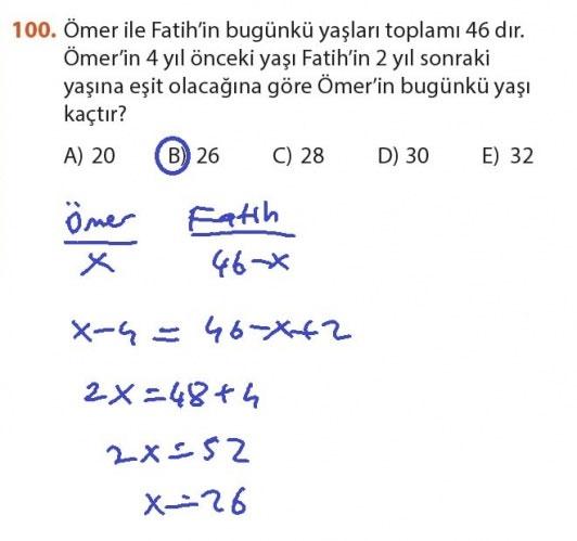 9. Sınıf Meb Matematik Sayfa 184-194 Cevapları 100