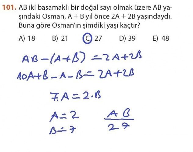 9. Sınıf Meb Matematik Sayfa 184-194 Cevapları 101