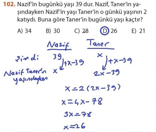 9. Sınıf Meb Matematik Sayfa 184-194 Cevapları 102