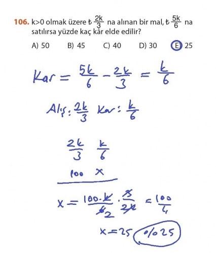 9. Sınıf Meb Matematik Sayfa 184-194 Cevapları 106