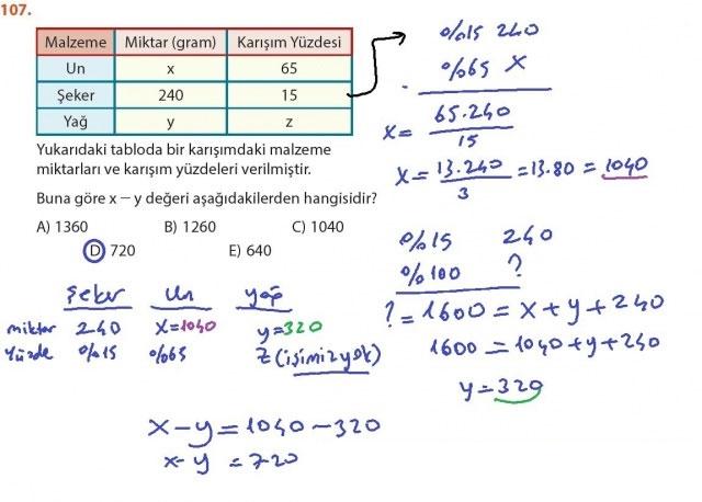 9. Sınıf Meb Matematik Sayfa 184-194 Cevapları 107