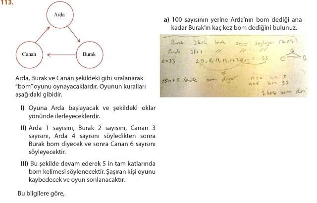 9. Sınıf Meb Matematik Sayfa 184-194 Cevapları 113
