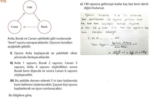 9. Sınıf Meb Matematik Sayfa 184-194 Cevapları 115