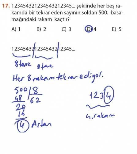 9. Sınıf Meb Matematik Sayfa 184-194 Cevapları 17