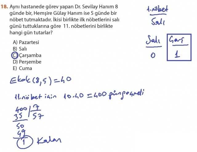 9. Sınıf Meb Matematik Sayfa 184-194 Cevapları 18