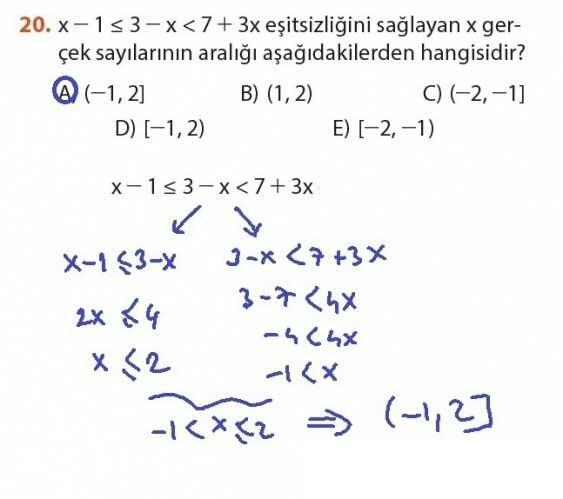 9. Sınıf Meb Matematik Sayfa 184-194 Cevapları 20