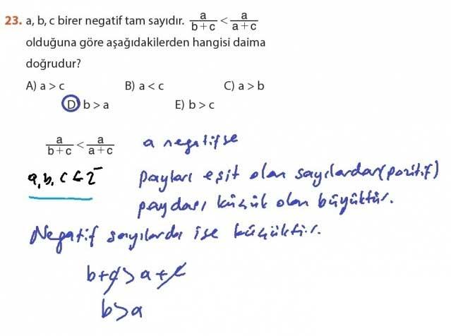 9. Sınıf Meb Matematik Sayfa 184-194 Cevapları 23
