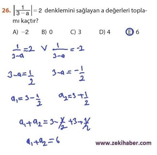 9. Sınıf Meb Matematik Sayfa 184-194 Cevapları 26