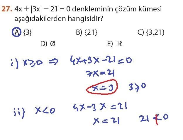9. Sınıf Meb Matematik Sayfa 184-194 Cevapları 27
