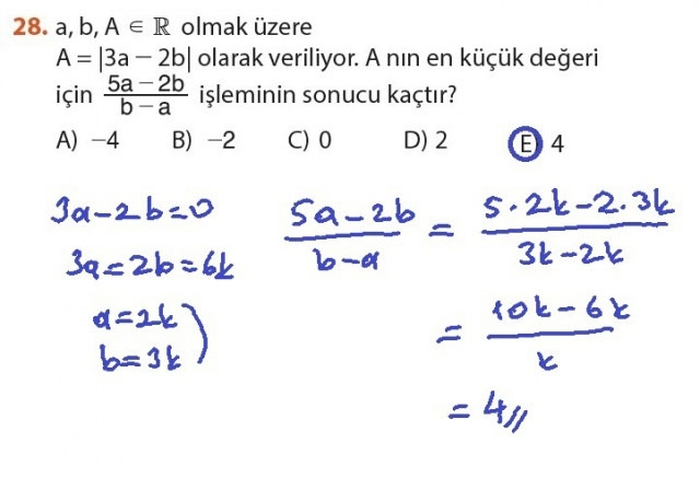9. Sınıf Meb Matematik Sayfa 184-194 Cevapları 28