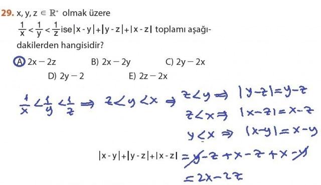 9. Sınıf Meb Matematik Sayfa 184-194 Cevapları 29