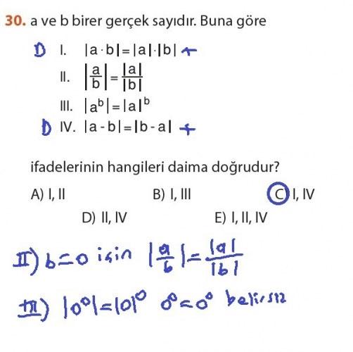 9. Sınıf Meb Matematik Sayfa 184-194 Cevapları 30