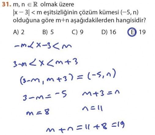 9. Sınıf Meb Matematik Sayfa 184-194 Cevapları 31