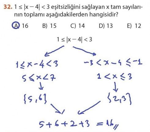 9. Sınıf Meb Matematik Sayfa 184-194 Cevapları 32