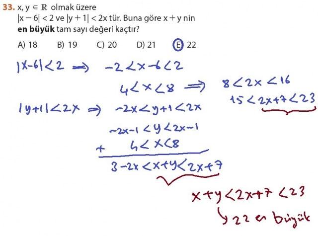 9. Sınıf Meb Matematik Sayfa 184-194 Cevapları 33