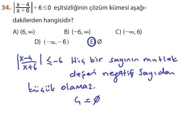 9. Sınıf Meb Matematik Sayfa 184-194 Cevapları 34