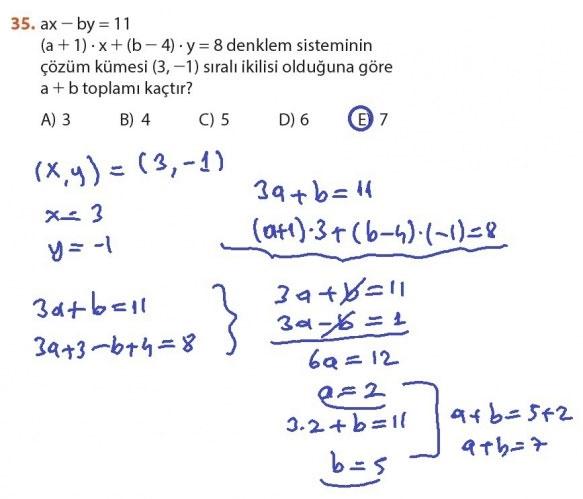 9. Sınıf Meb Matematik Sayfa 184-194 Cevapları 35