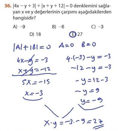 9. Sınıf Meb Matematik Sayfa 184-194 Cevapları 36