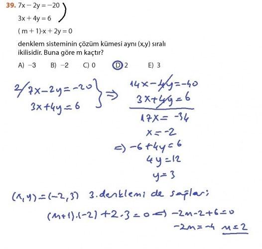 9. Sınıf Meb Matematik Sayfa 184-194 Cevapları 39