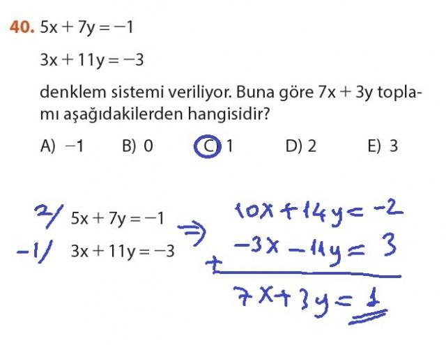9. Sınıf Meb Matematik Sayfa 184-194 Cevapları 40