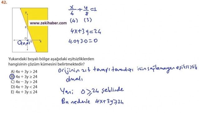9. Sınıf Meb Matematik Sayfa 184-194 Cevapları 42