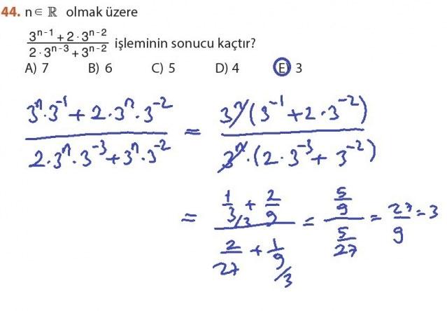 9. Sınıf Meb Matematik Sayfa 184-194 Cevapları 44