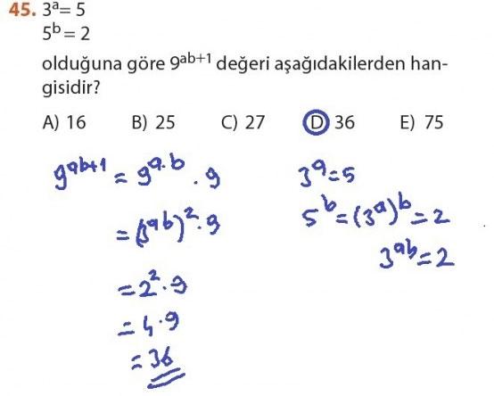 9. Sınıf Meb Matematik Sayfa 184-194 Cevapları 45