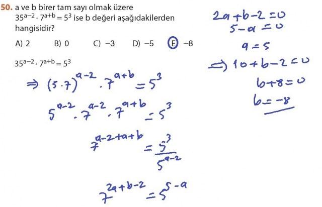 9. Sınıf Meb Matematik Sayfa 184-194 Cevapları 50