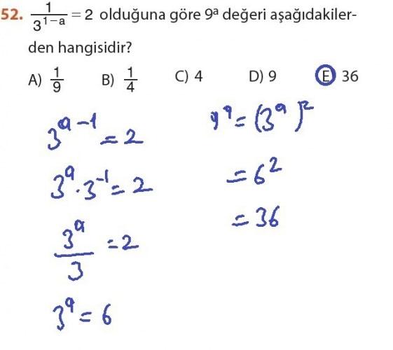 9. Sınıf Meb Matematik Sayfa 184-194 Cevapları 52