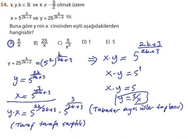 9. Sınıf Meb Matematik Sayfa 184-194 Cevapları 54