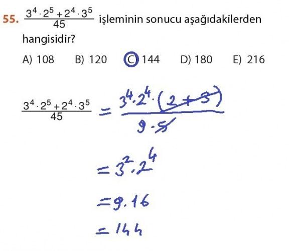 9. Sınıf Meb Matematik Sayfa 184-194 Cevapları 55