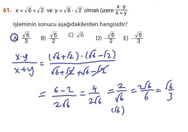 9. Sınıf Meb Matematik Sayfa 184-194 Cevapları 61