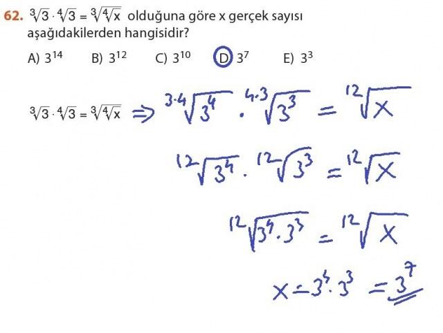 9. Sınıf Meb Matematik Sayfa 184-194 Cevapları 62