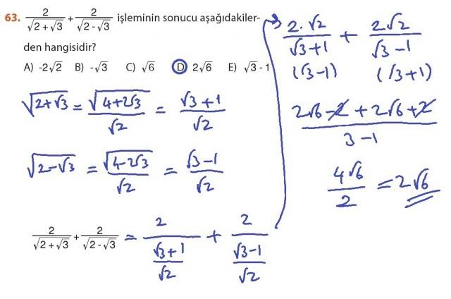 9. Sınıf Meb Matematik Sayfa 184-194 Cevapları 63