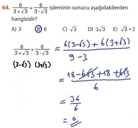 9. Sınıf Meb Matematik Sayfa 184-194 Cevapları 64