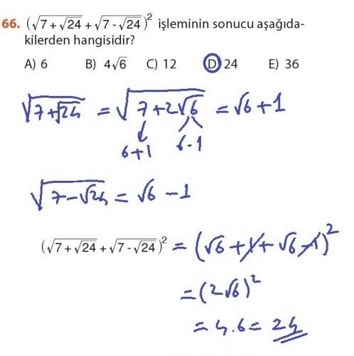 9. Sınıf Meb Matematik Sayfa 184-194 Cevapları 66