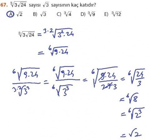 9. Sınıf Meb Matematik Sayfa 184-194 Cevapları 67