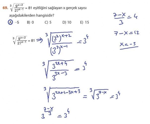 9. Sınıf Meb Matematik Sayfa 184-194 Cevapları 69